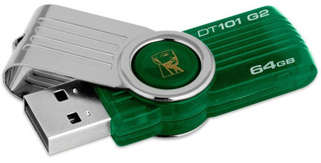 Flash Drive Kingston DataTraveler 101 G2 64 GB Green