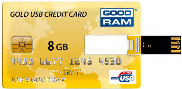Flash Drive GOODRAM Credit Card 8 GB Gold