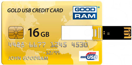 Flash Drive GOODRAM Credit Card 16 GB Gold