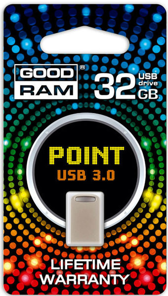Flash Drive Goodram POINT 32 GB Silver Retail 10