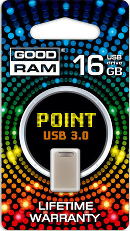 Flash Drive Goodram POINT 16 GB Silver Retail 10