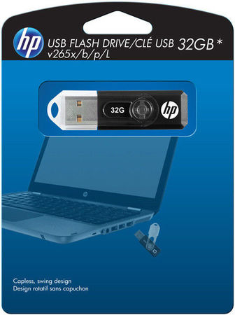 Flash Drive Hewlett Packard Micro 32 GB V265X Black