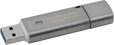 Flash Drive Kingston DT Locker+ G3 USB 3.0 8 GB