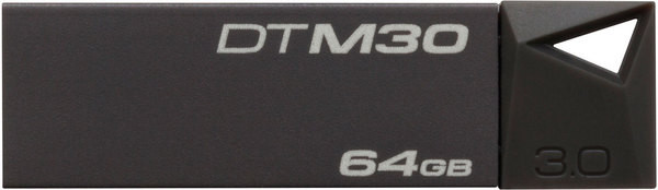 Flash Drive Kingston DTM30 Mini 64 GB USB 3.0 Grey
