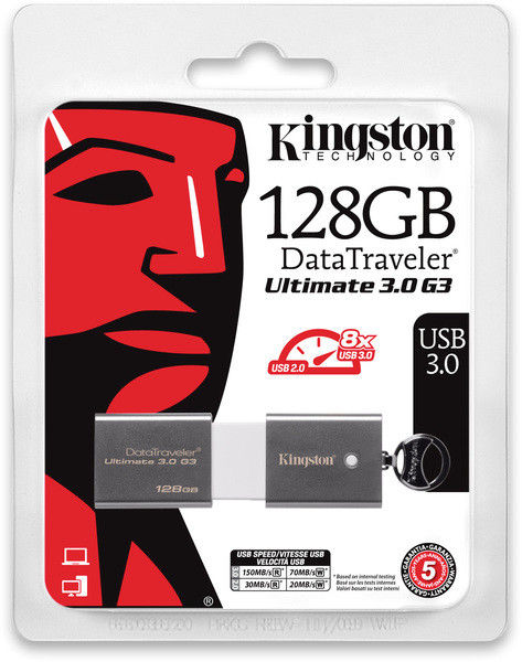 Flash Drive Kingston DataTraveler Ultimate 3.0 G3 128 GB