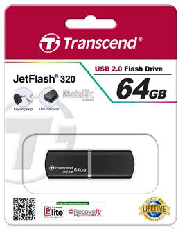 Flash Drives Transcend JetFlash 320 64 GB Black