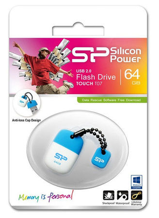 Flash Drive Silicon Power Touch T07 32 GB Blue