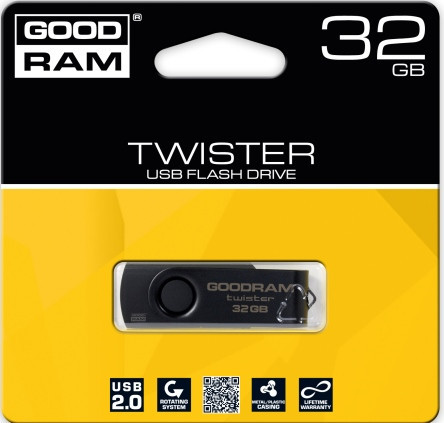 Flash Drives Goodram TWISTER 32 GB RETAIL 9 Black clip