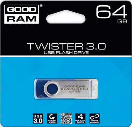 Flash Drives Goodram TWISTER 64 GB USB 3.0 RETAIL 9