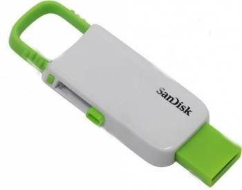 Flash Drive Sandisk USB Cruzer U 16Gb White/Green