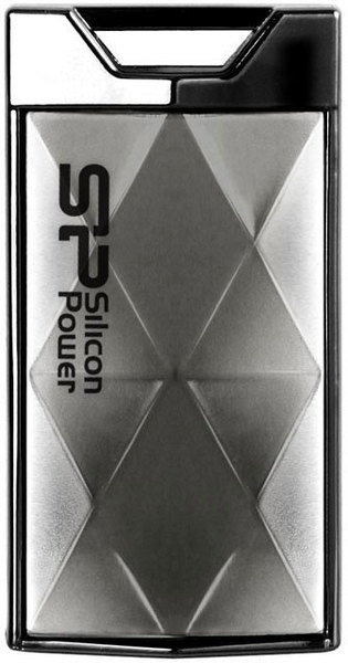 Flash Drive Silicon Power Touch 850 4 GB Titanium