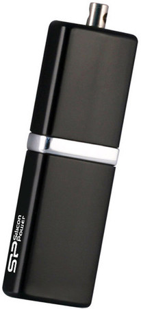 Flash Drive Silicon Power LuxMini 710 4 GB Black