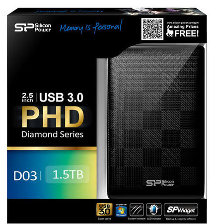 Накопитель Silicon Power Diamond D03 500 GB USB 3.0 Black