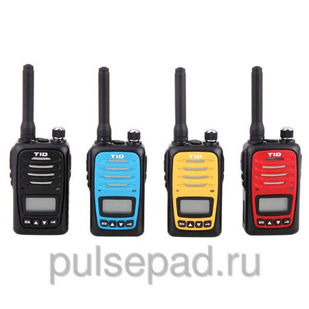 Рация носимая TID-Electronics TD-V6 UHF, 400-470 Мгц, + АКБ 1900 mAh, LI-ION, black