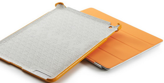 SGP Leather Case Griff Series Solaris Orange for iPad 2 (SGP07698)