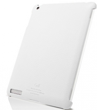 SGP Leather Case Griff Series White for iPad 2 (SGP07694)
