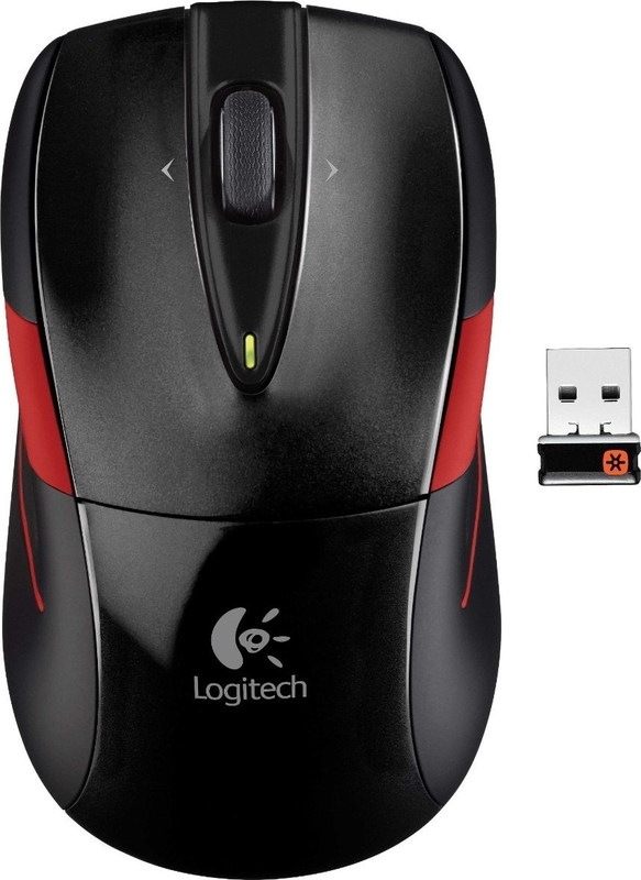 Мышь Logitech M525 Wireless Mouse (Black/Red) (эконом упаковка)