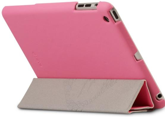 Zenus Smart Folio Cover Case Pink for iPad mini