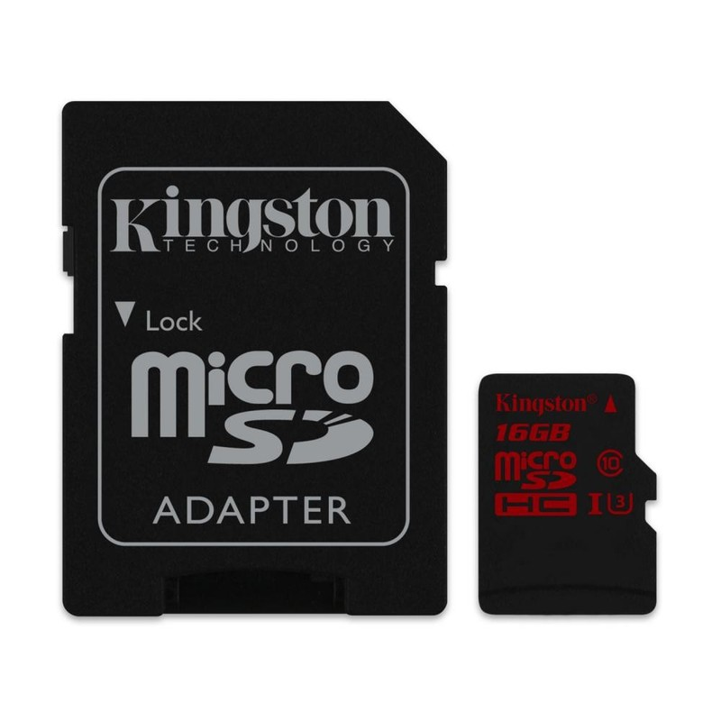 Карта памяти Kingston 16 GB microSDHC class 10 UHS-I + SD Adapter SDCA10/16GB