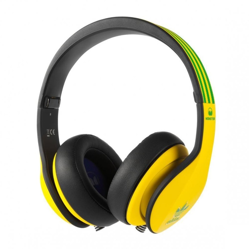 Наушники Adidas Originals by Monster® Over-Ear - Yellow and Green over Black