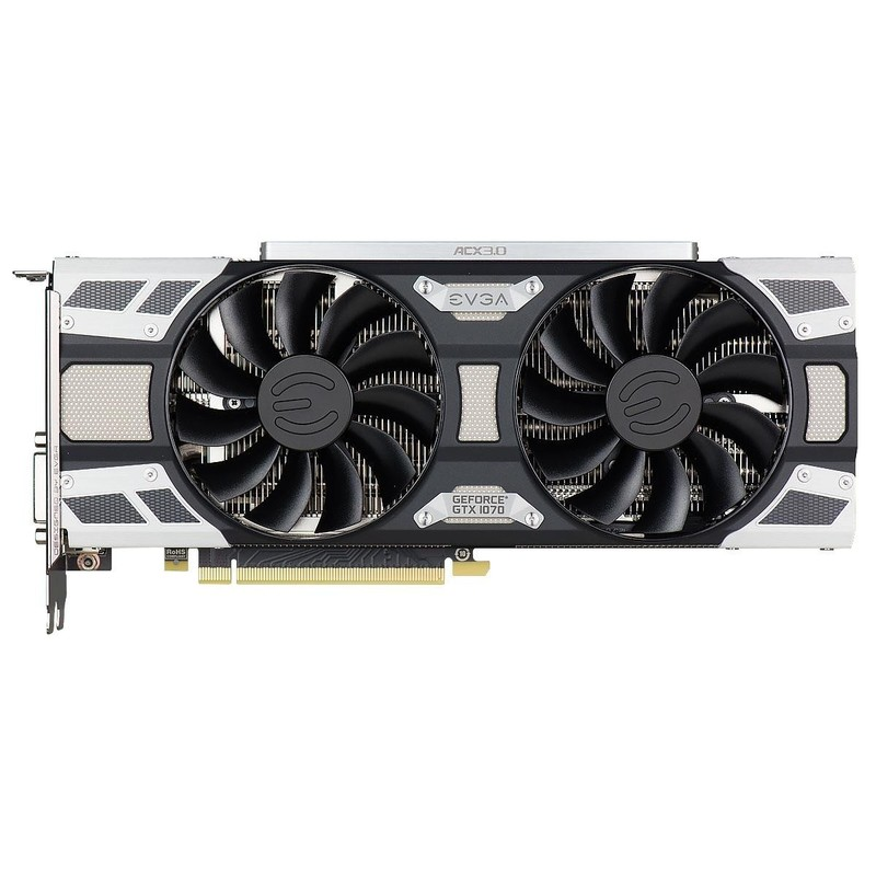 Видеокарта EVGA GeForce GTX 1070 SC GAMING ACX 3.0 (08G-P4-6173-KR)