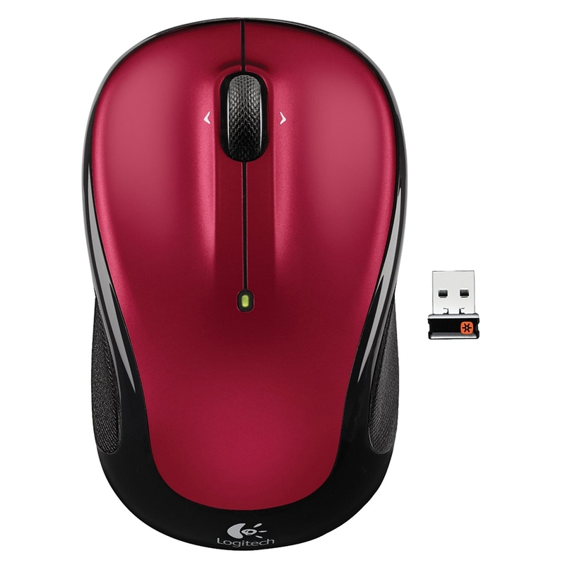 Мышь Logitech M325 Wireless Mouse Metallic Red (910-002705) (эконом упаковка)