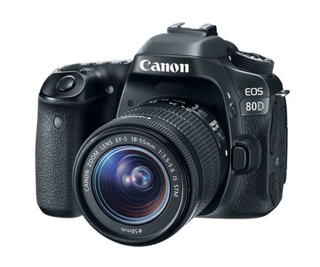 Зеркальный фотоаппарат Canon EOS 80D kit (18-55mm) IS STM