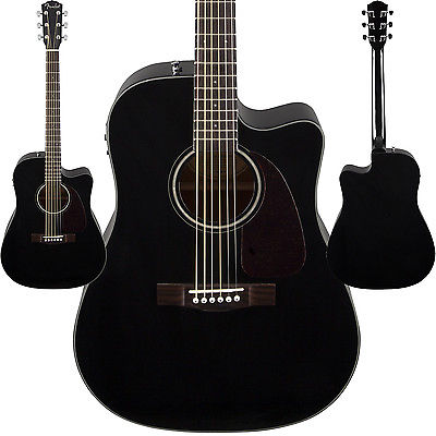 Электроакустическая гитара Fender CD-140SCE Black