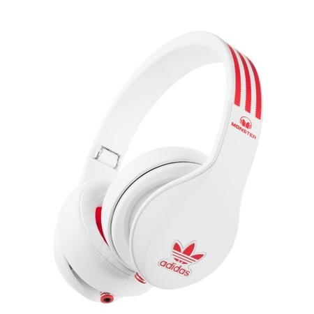 Наушники Monster Adidas Originals Over-Ear White/Red over White (MNS-128642-00)